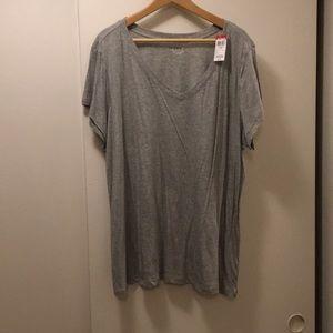 Gray v-neck Shirt